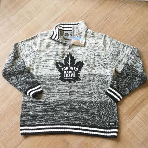newest 6caeb 7b945 NHL NEW Toronto Maple Leafs Hockey Knit Sweater XL